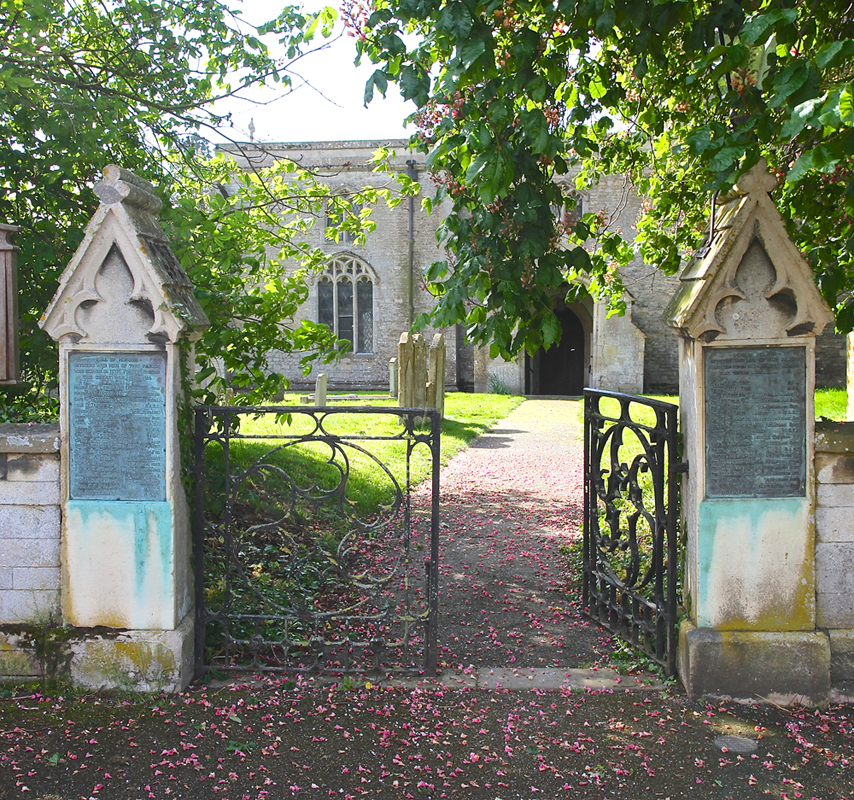 Tinwell War Memorial (All Saints' Church gates)