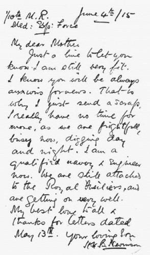 Nevinsons letter